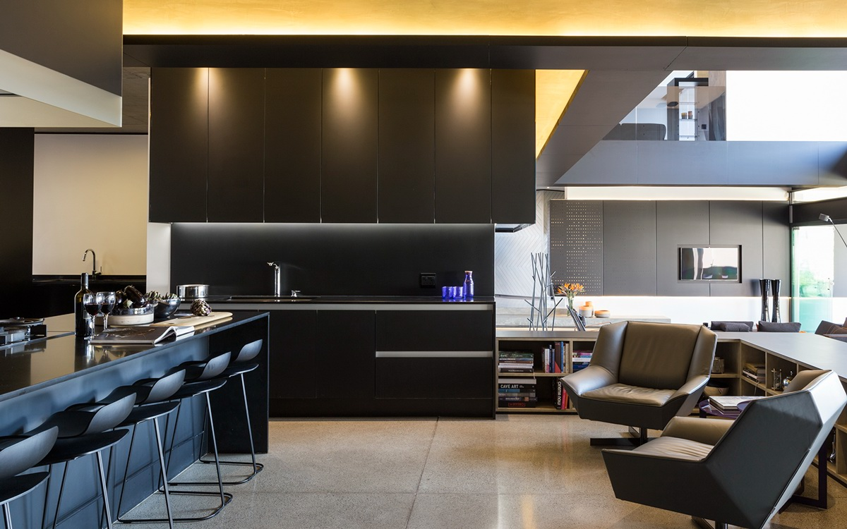 matteblackkitchendesign  interior design ideas