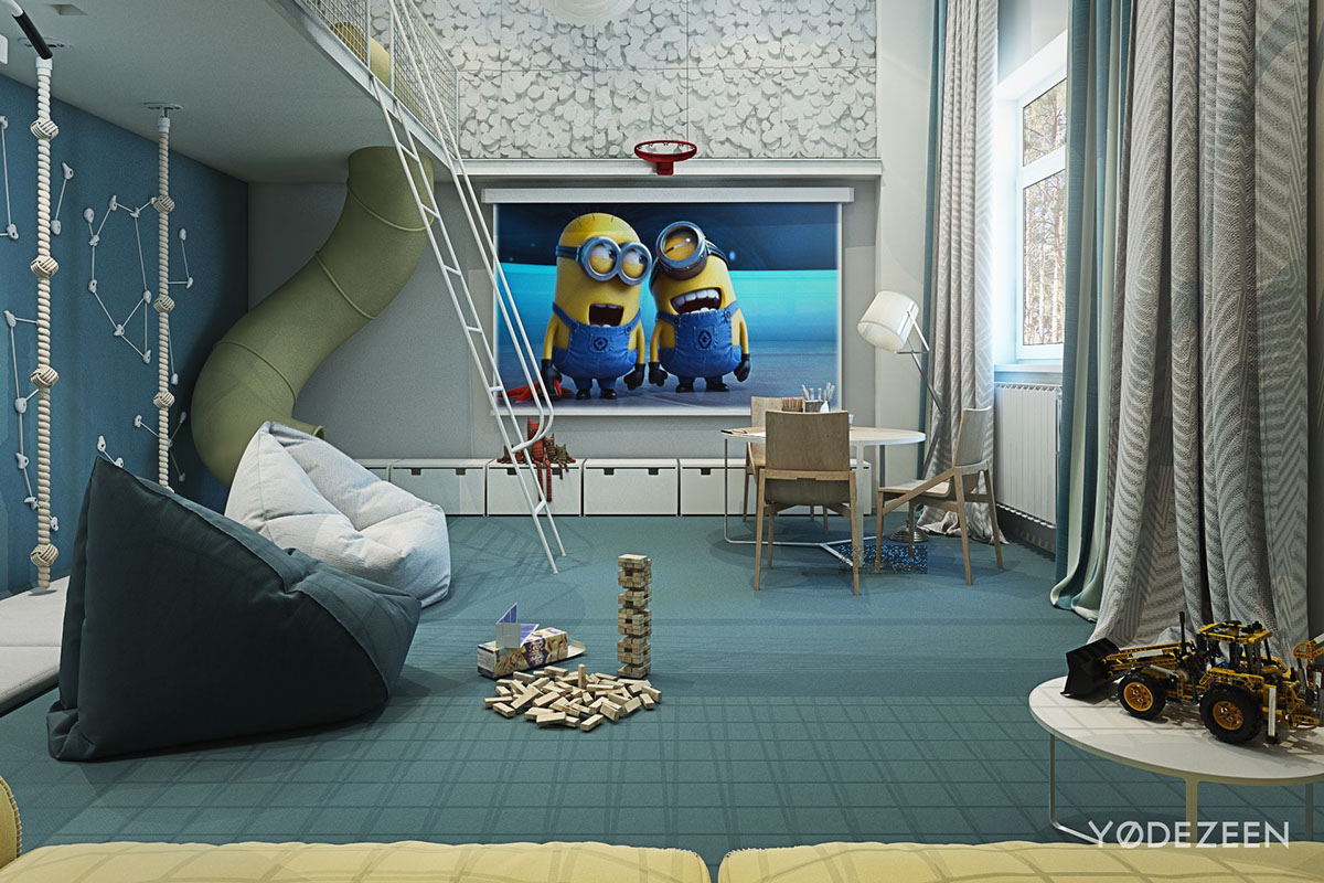 A kids friendly apartment design with lots of playful features - Children s room interior images ...