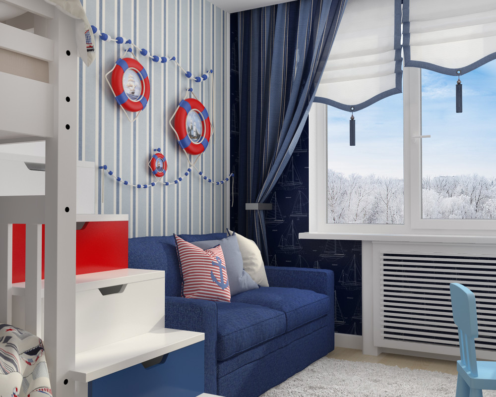 Nautical Theme Kids Room Interior Design Ideas