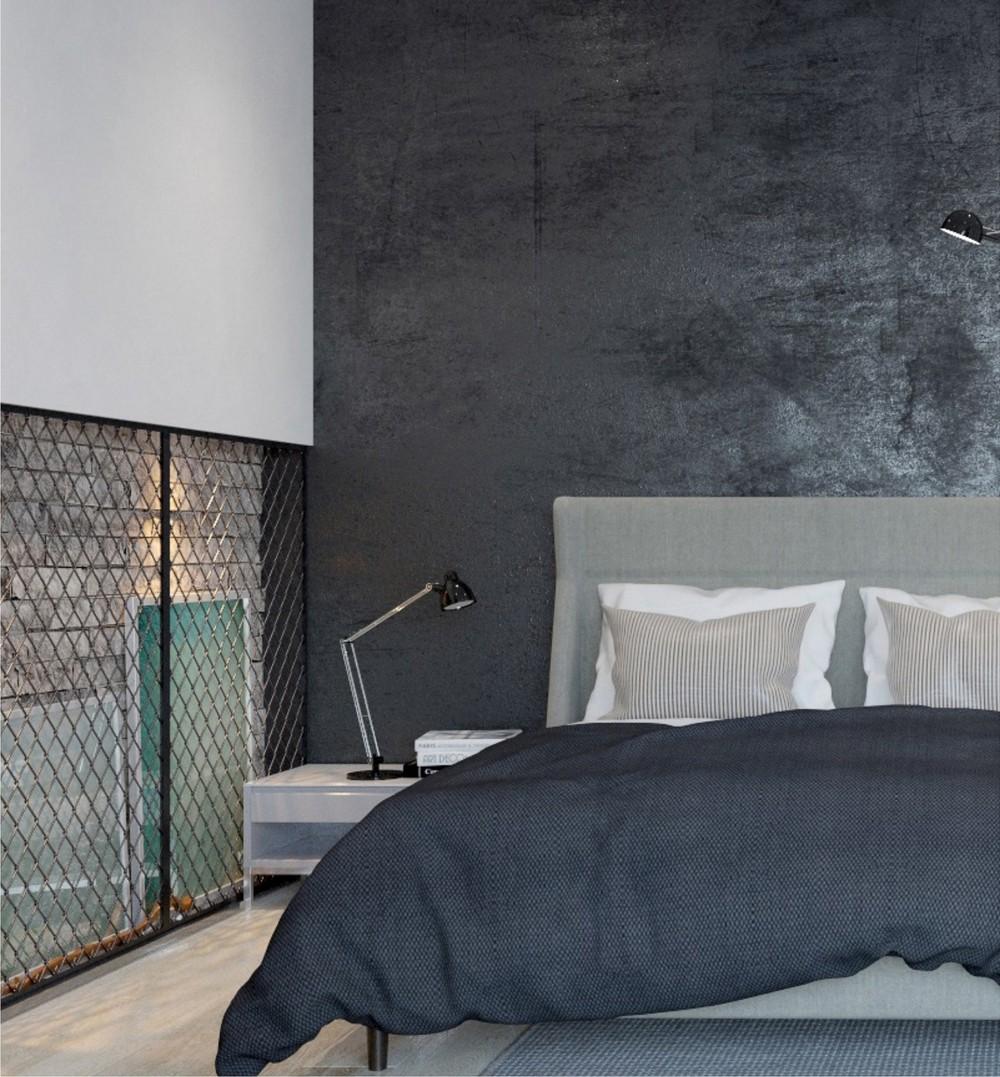 Textured Concrete Wall Interior Design Ideas