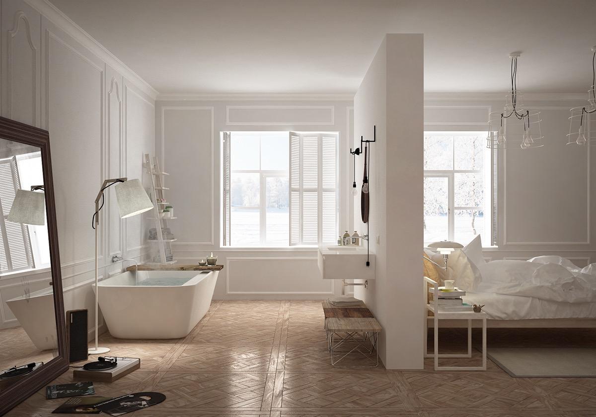 Bedroom Bathtub Interior Design Ideas, Bathroom Bedroom Ideas