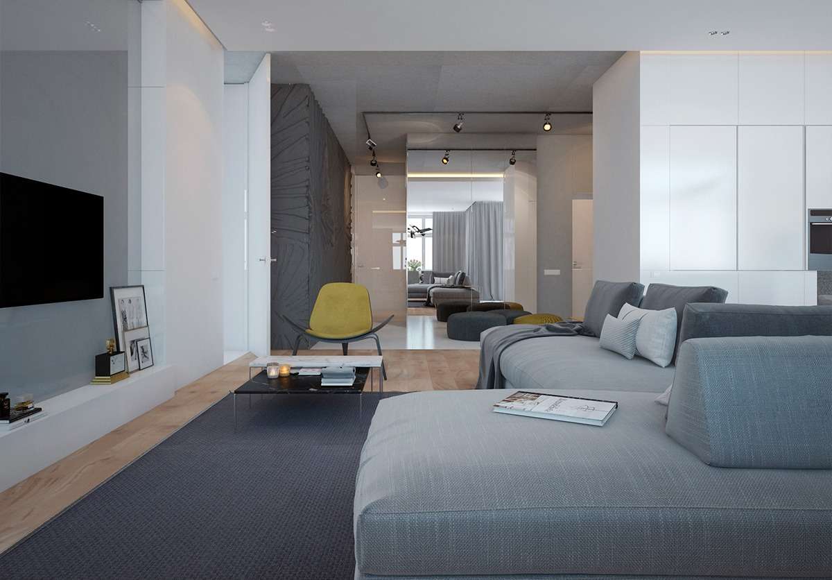 Blue Gray Interior Interior Design Ideas