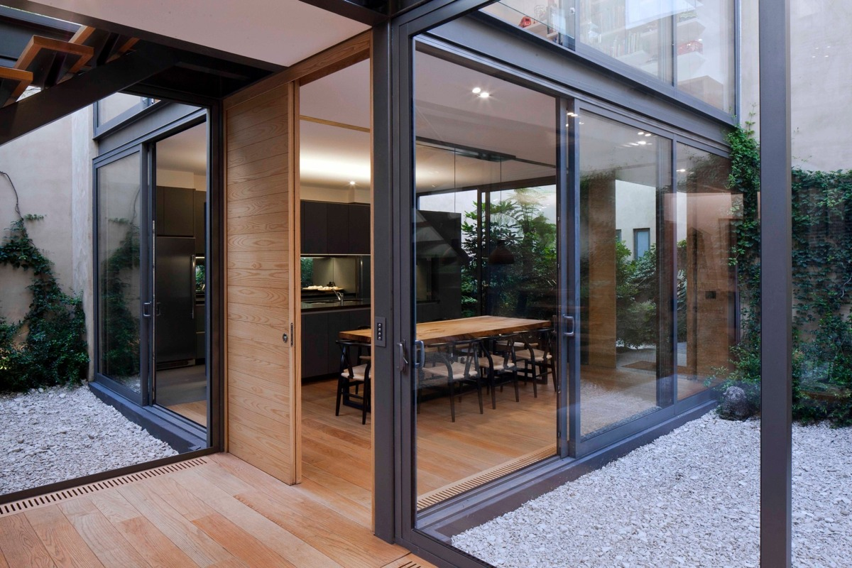 a house with 4 courtyards includes floor plans. Black Bedroom Furniture Sets. Home Design Ideas