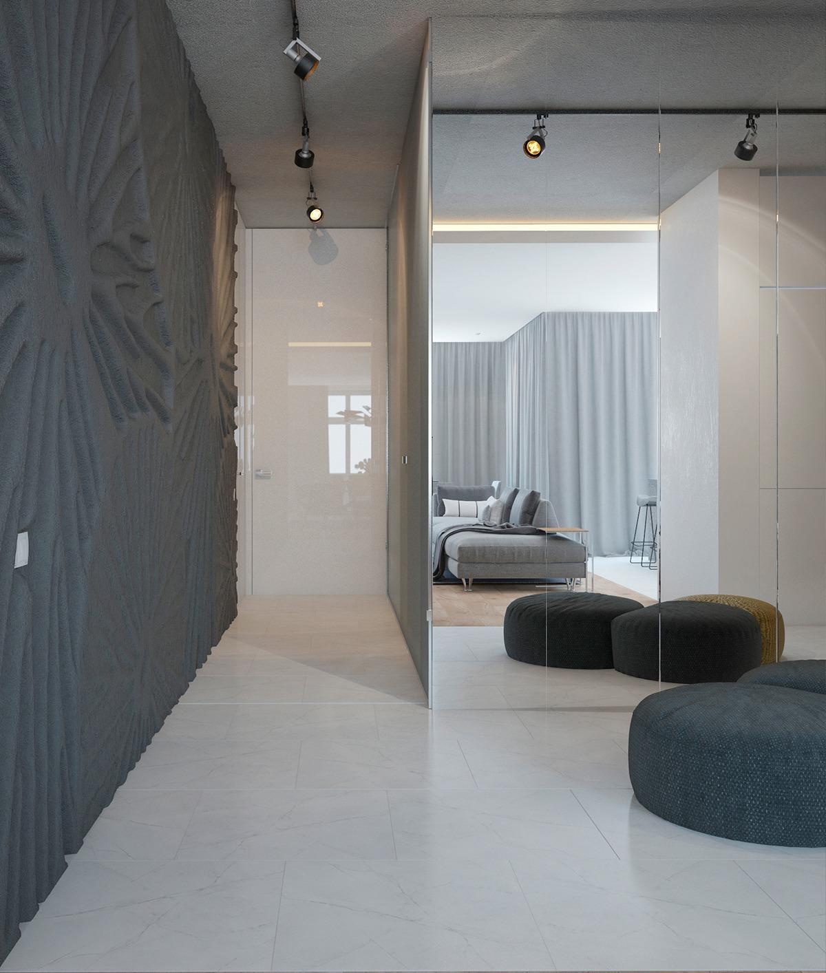 Dark Gray Wall Texture Art