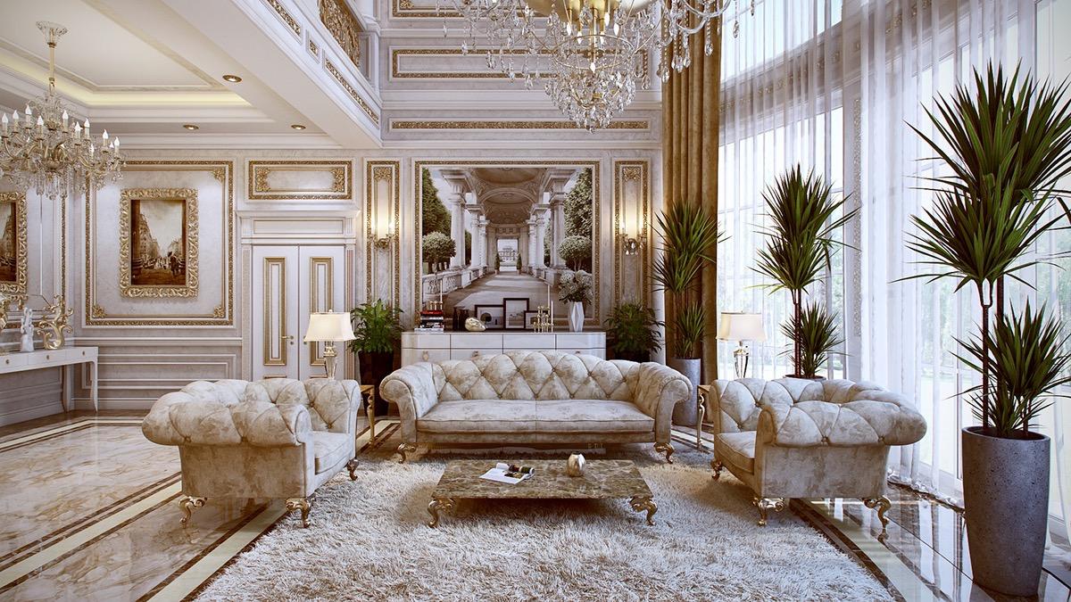 Luxurious Chesterfield Sofa Interior Design Ideas
