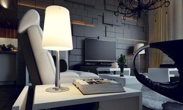 modern asymmetric wall panels  interior design ideas