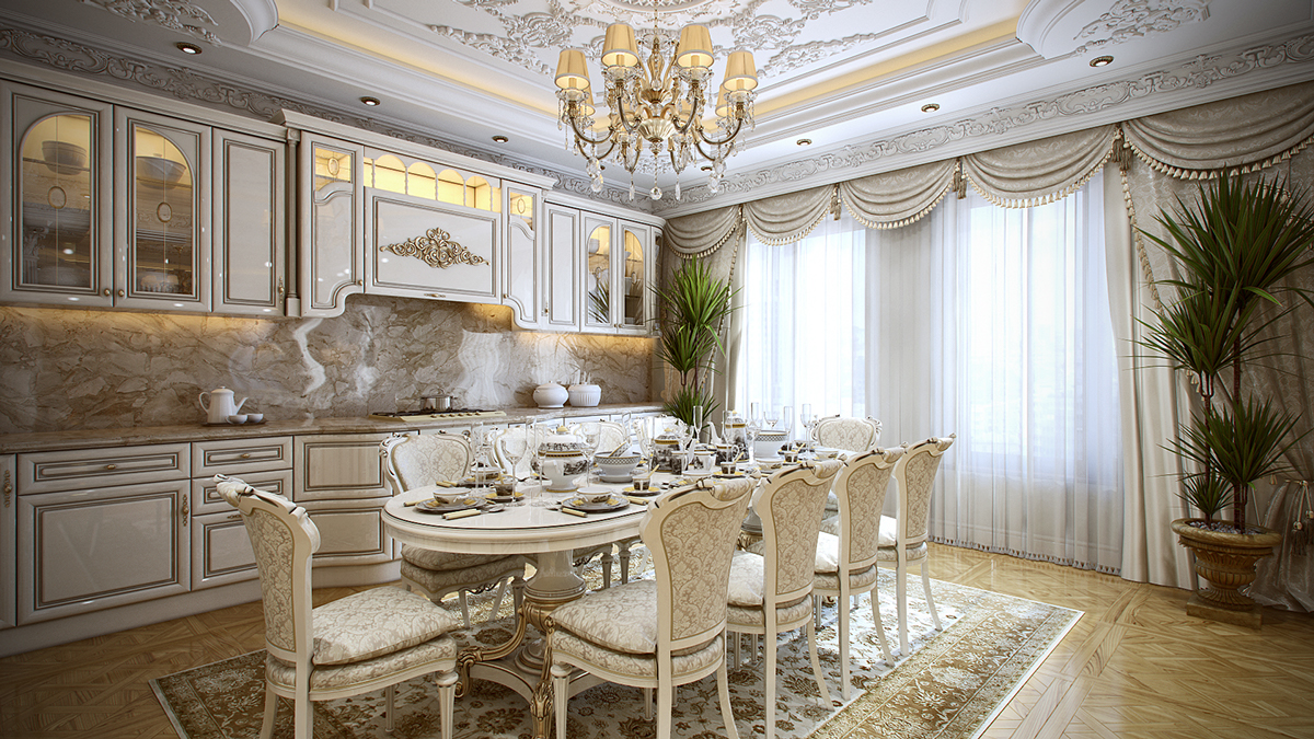 french provincial dining room | 5 Luxurious Interiors Inspired by Louis-Era French Design