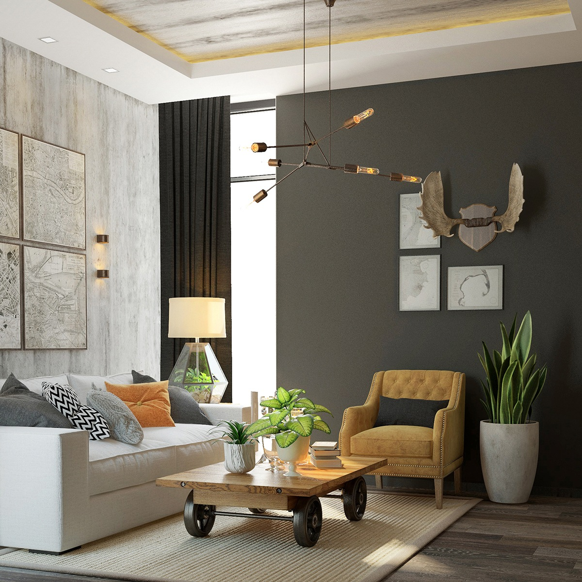 An Industrial Home With Warm Hues: Interior Design Ideas