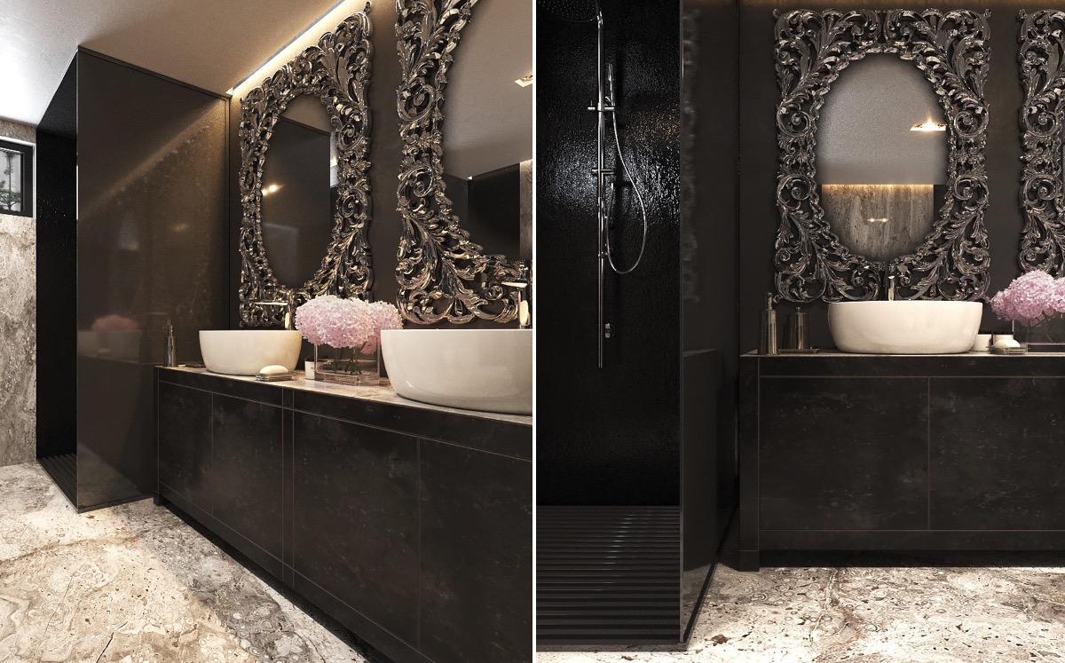 Baroque Mirror Black Designs