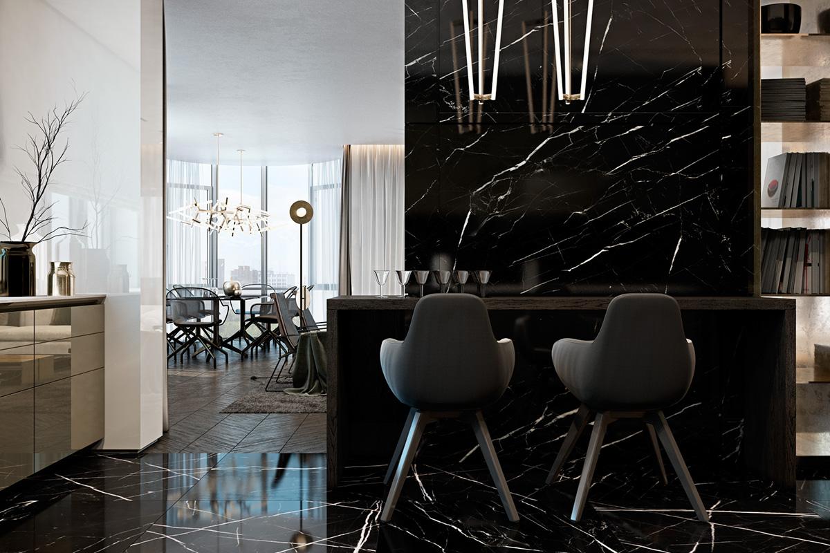 Modern Interior Design: Three Luxurious Apartments With Dark Modern Interiors
