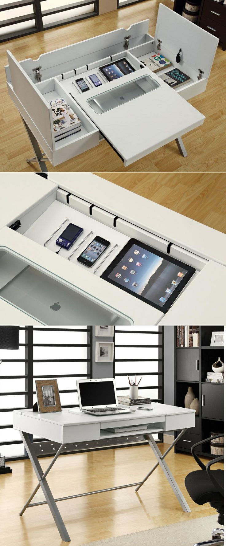 Desk L With Charging Station Unique Home Office Desks