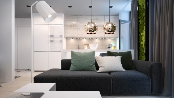 Small apartments with cheerful colorful accents · luxury styles 6 dark and daring interiors