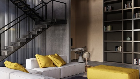 An Industrial-Inspired Apartment With Sophisticated Style