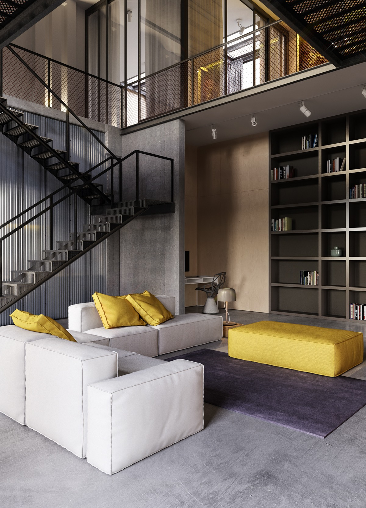 An industrial inspired apartment with sophisticated style - Modern industrial interior design ...