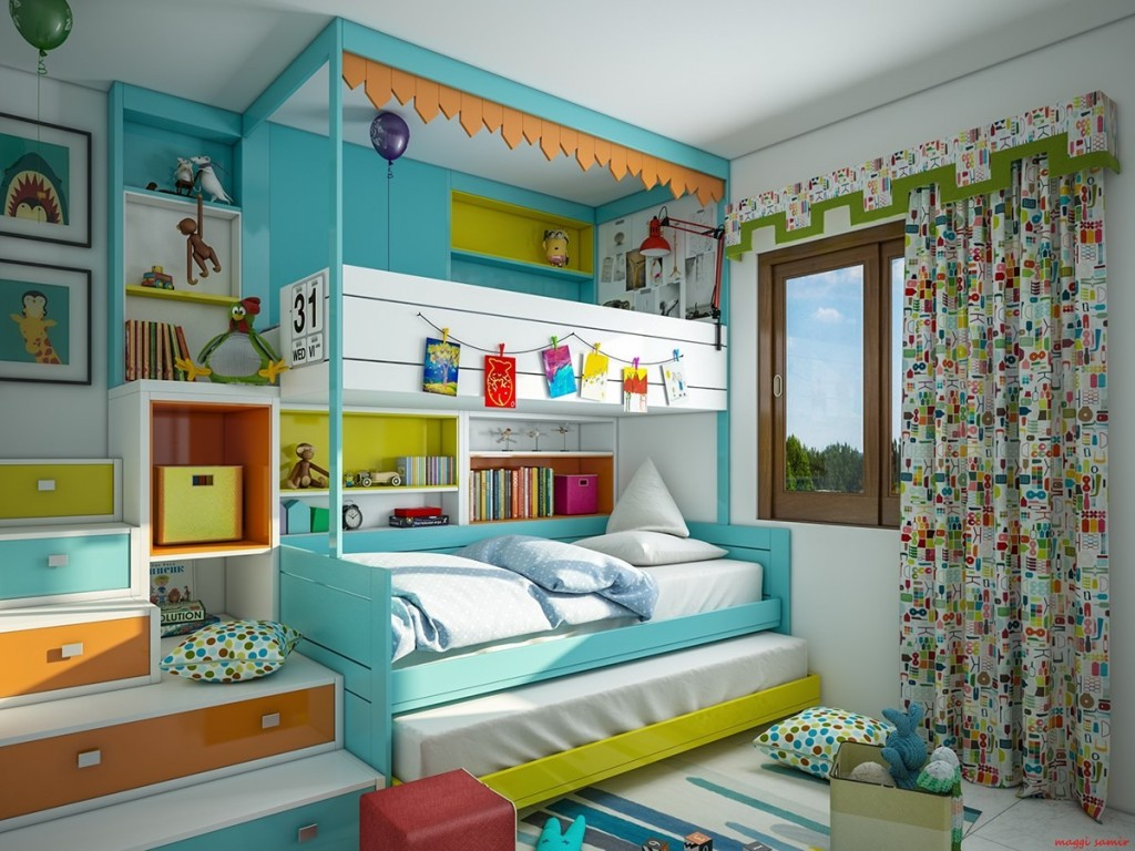 Picture of: Super Colorful Bedroom Ideas For Kids And Teens