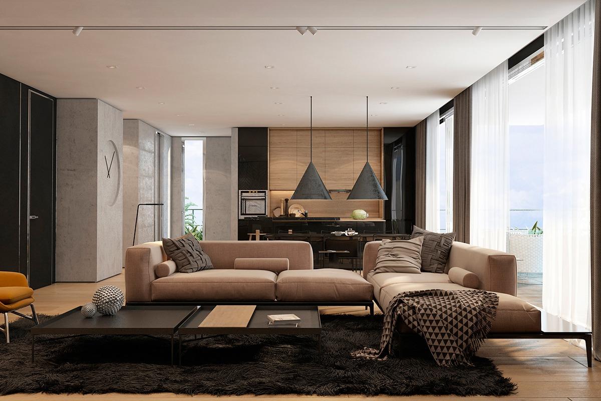 3 Moderne Wohnungen Mit Erstaunlichen Kamine und Kreative Helligkeit