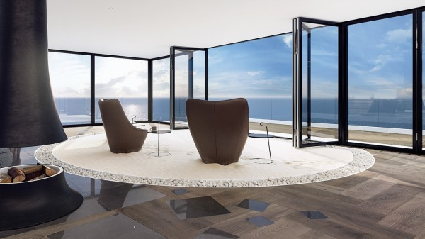 Two classic chairs provide the best seat in the house a gorgeous panoramic view