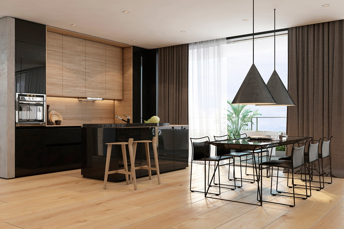 Two Apartments With Texture One Soft One Sleek