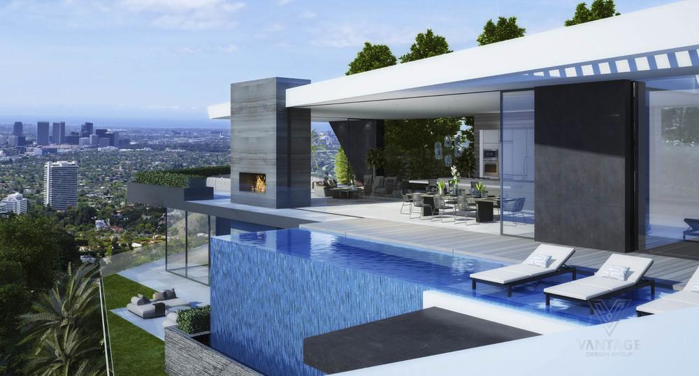 Modern Home Waterfall Interior Design