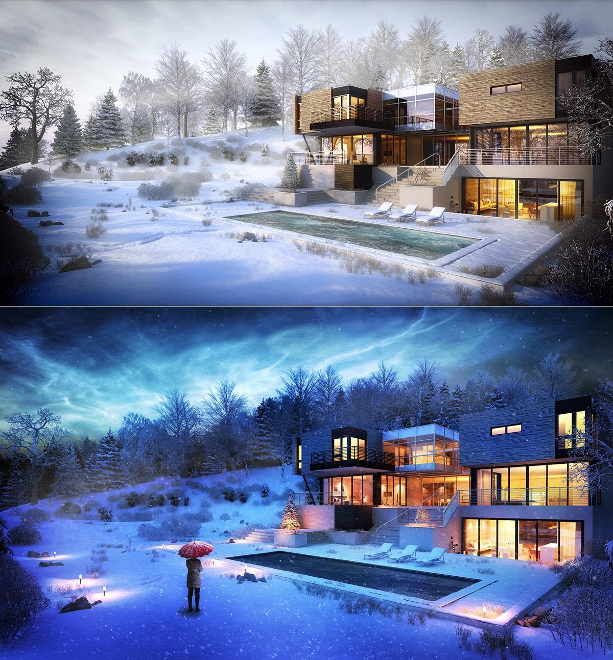 Modern Winter Houseinterior Design Ideas