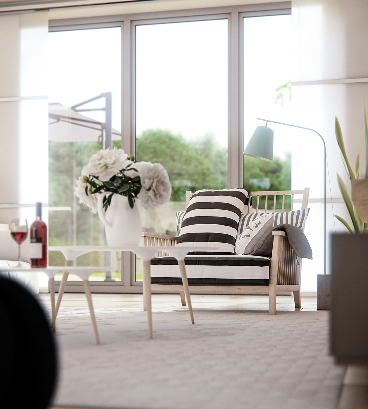 Scandinavian Home Design Looks So Charming With Eclectic: 3 Natural Interior Concepts With Floor-To-Ceiling Windows