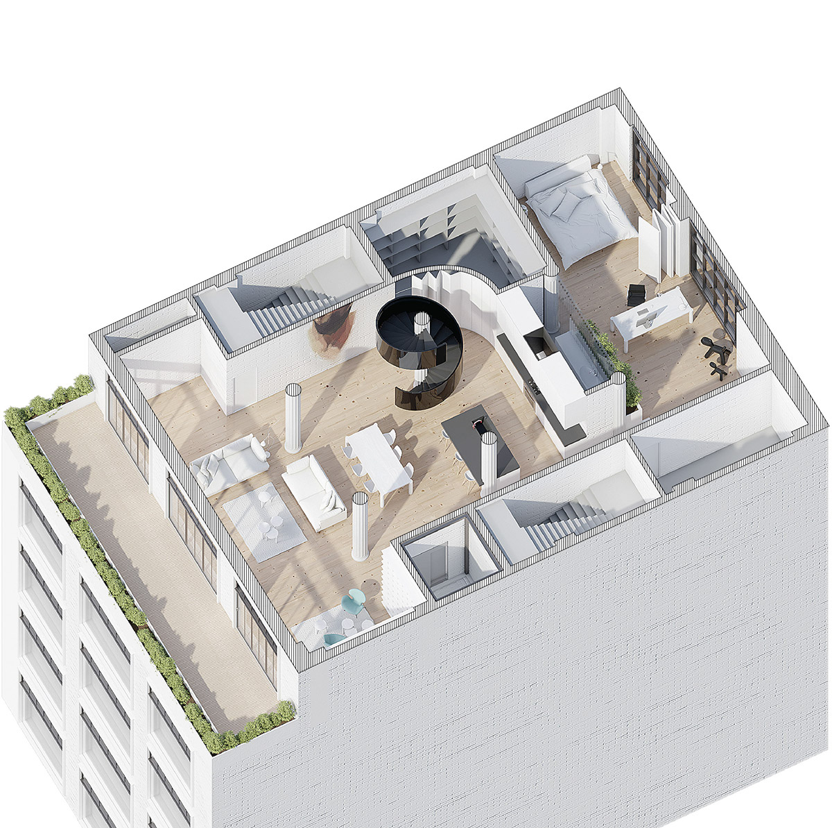 Ultra luxury loft floor plan