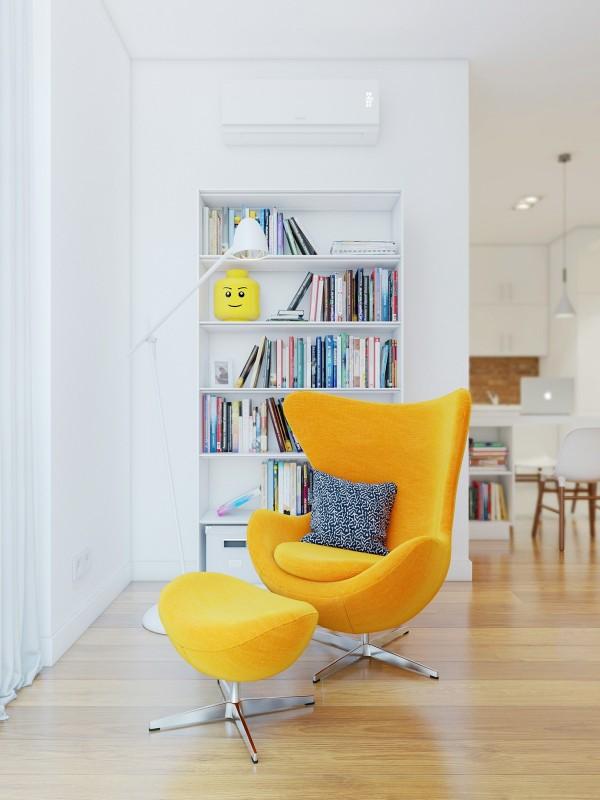 yellow egg chairinterior design ideas