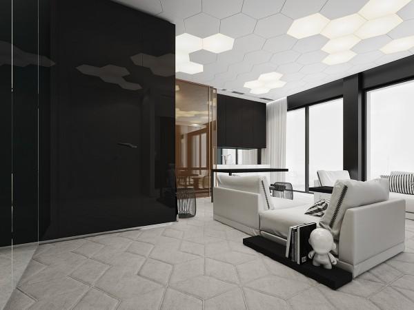 geometric apartment decor inspiration 600x450 - 5 Small Studio Apartments With Beautiful Design