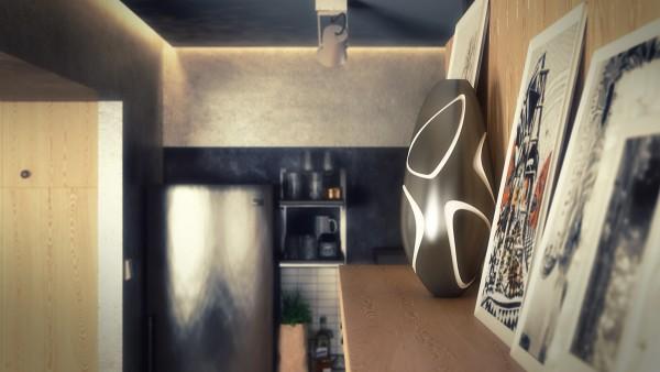 interesting classic modern decor 600x338 - 5 Small Studio Apartments With Beautiful Design
