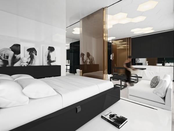 luxury geometric decor inspiration 600x450 - 5 Small Studio Apartments With Beautiful Design