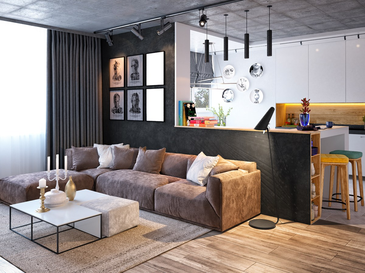 Home Designing Com 3 Inspiring Homes With Concrete Ceilings And Wood Floors