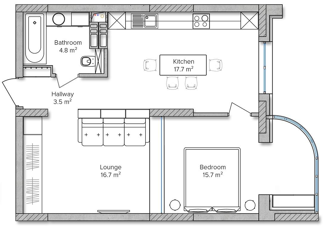 Small Apartment Floor Plan Inspiration Interior Design Ideas