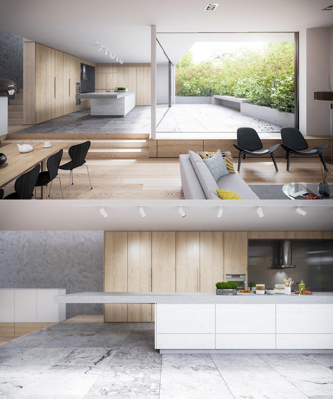 Home Designs Ultra Modern Kitchen Designs Ideas: 25 White And Wood Kitchen Ideas
