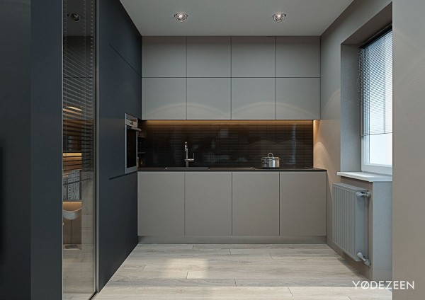 studio apartment kitchen inspiration 600x424 - 5 Small Studio Apartments With Beautiful Design