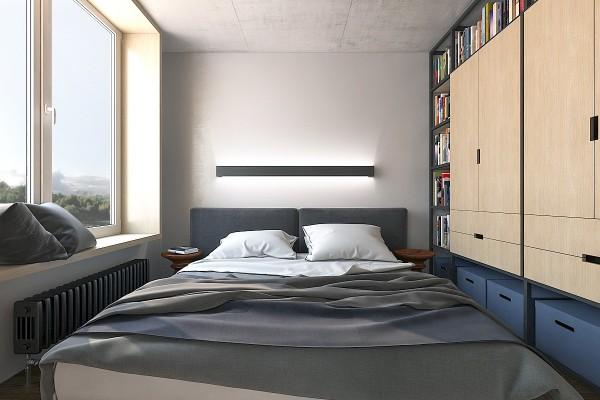 tiny bedroom storage inspiration 600x400 - 5 Small Studio Apartments With Beautiful Design