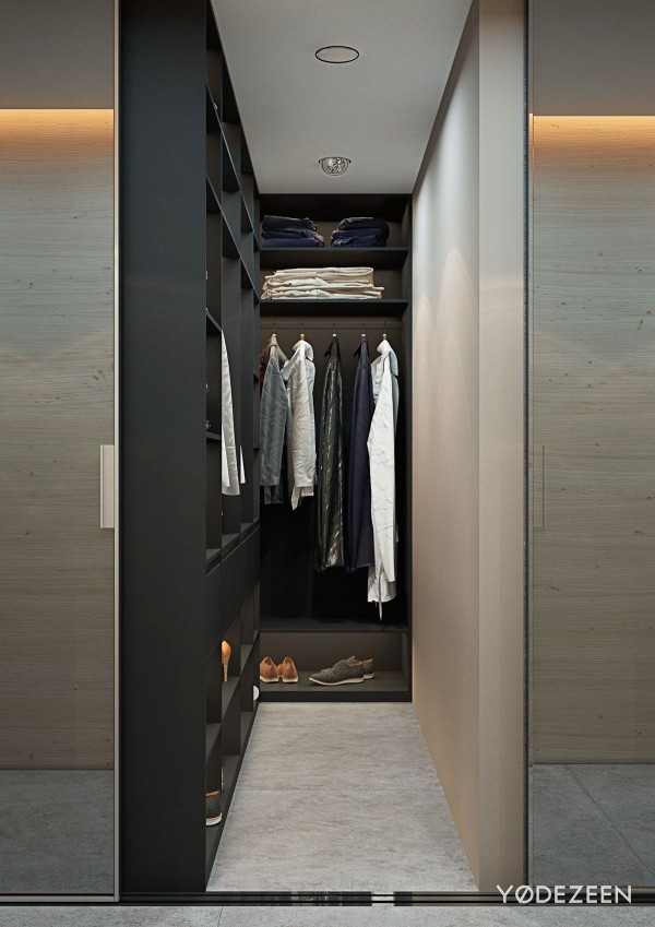 tiny walk in closet inspiration 600x849 - 5 Small Studio Apartments With Beautiful Design