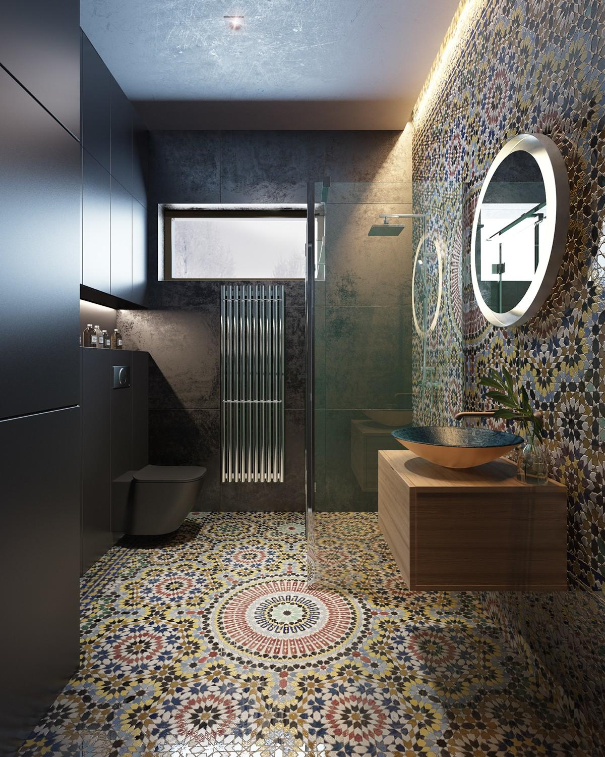 moroccan bathroom ideas a family home with different styles in every room 14293