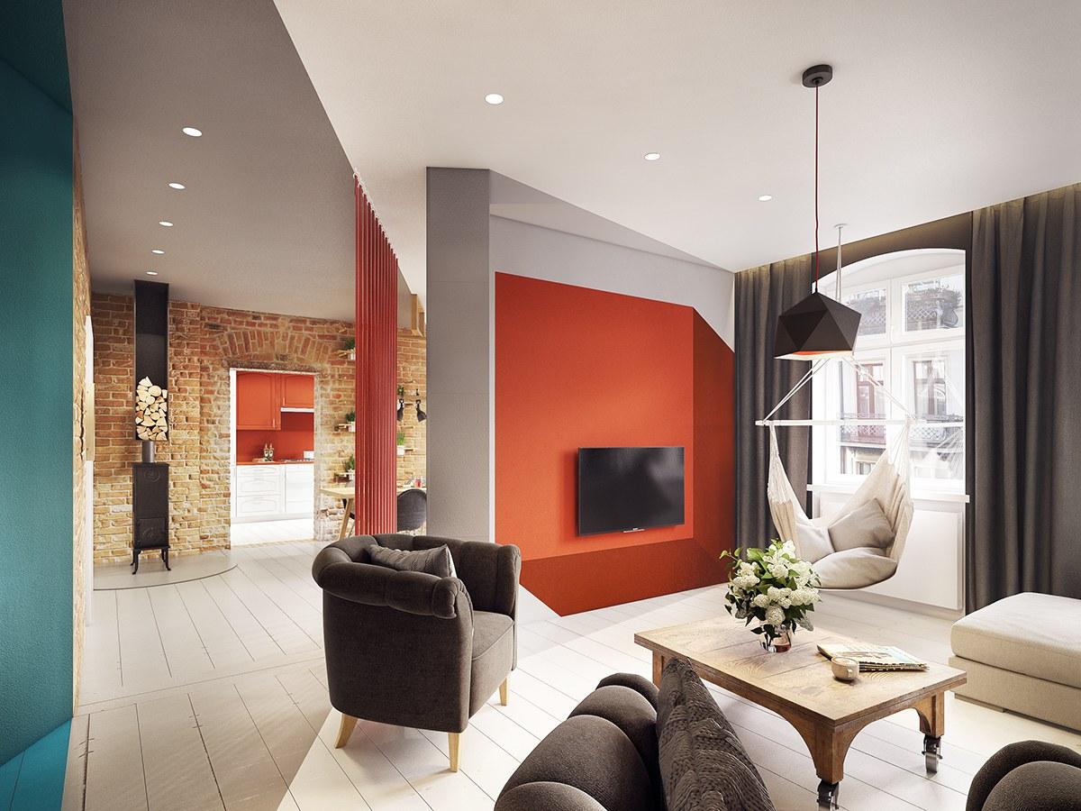 25 Wunderschöne Kadmiumgelb-Aussprache-Wohnzimmer