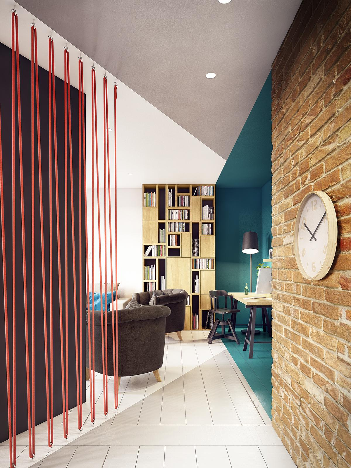 A Stunning Apartment With Colorful Geometric Design
