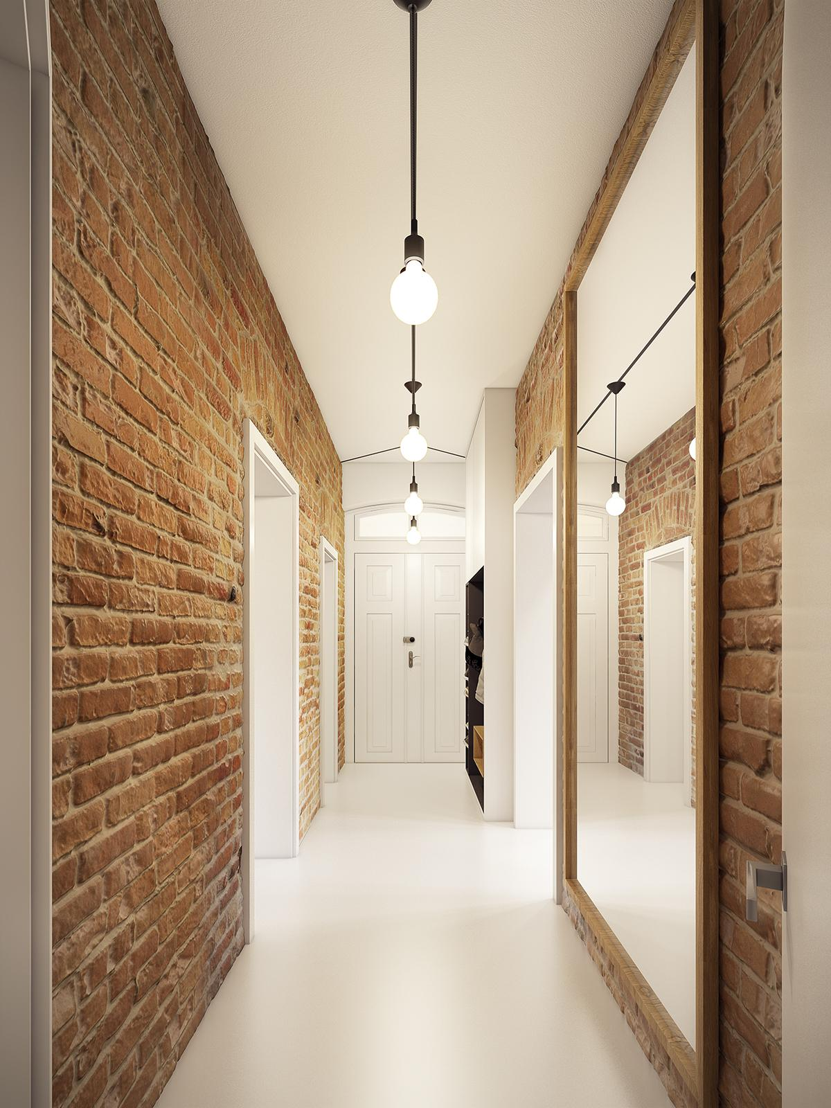 Brick hallway designs