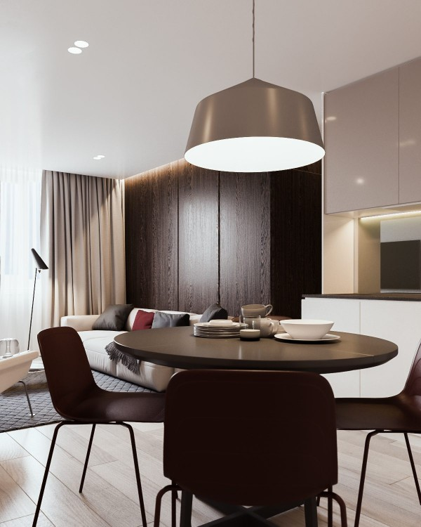 Its hard to go wrong with such a refined dining layout its simple effective and totally on theme with dark red chairs