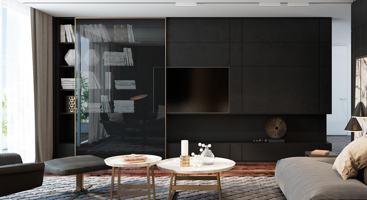Black Living Room Ideas for 2020