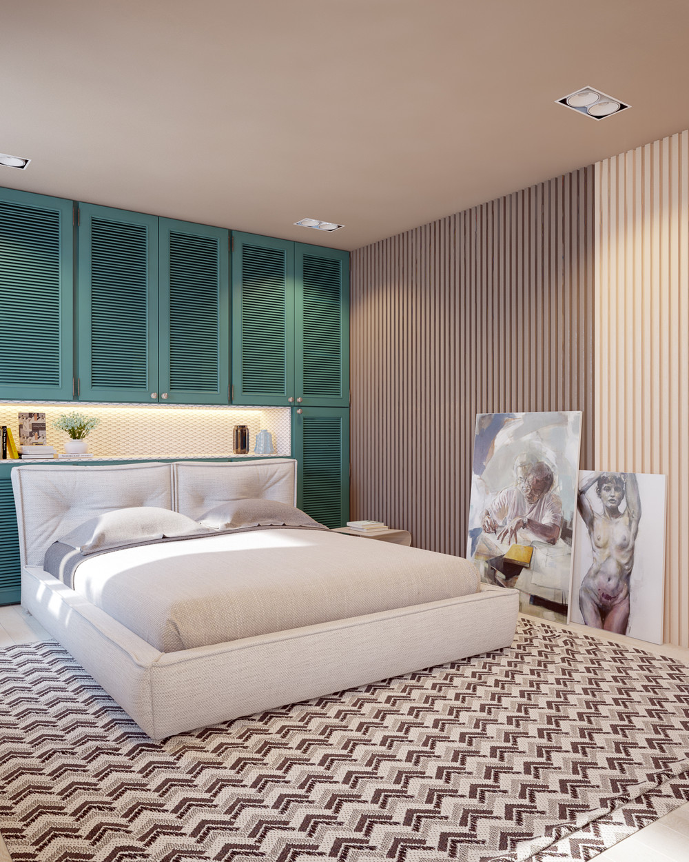 Accented Neutral Color Scheme Bedroom: Playful Ways To Brighten Neutral Color Themes