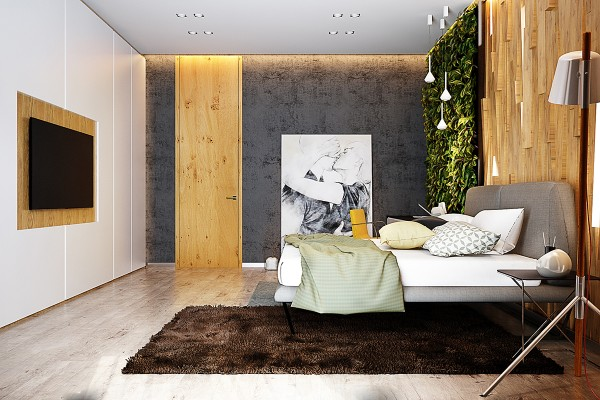 A lush vertical garden and angled wood panels create an atmosphere few would be soon to forget and while these features might be the most difficult to