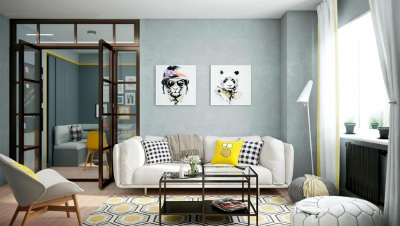 2 bright homes with energetic yellow accents