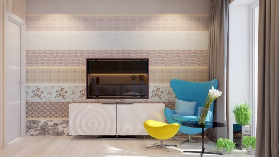Playful ways to brighten neutral color themes · light and modern sophistication in a two bedroom apartment