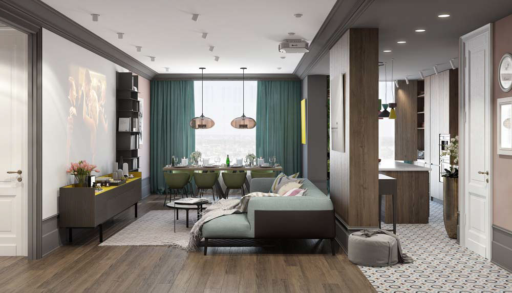 home interiors colors a pair of modern homes with distinctively bright color themes 12309