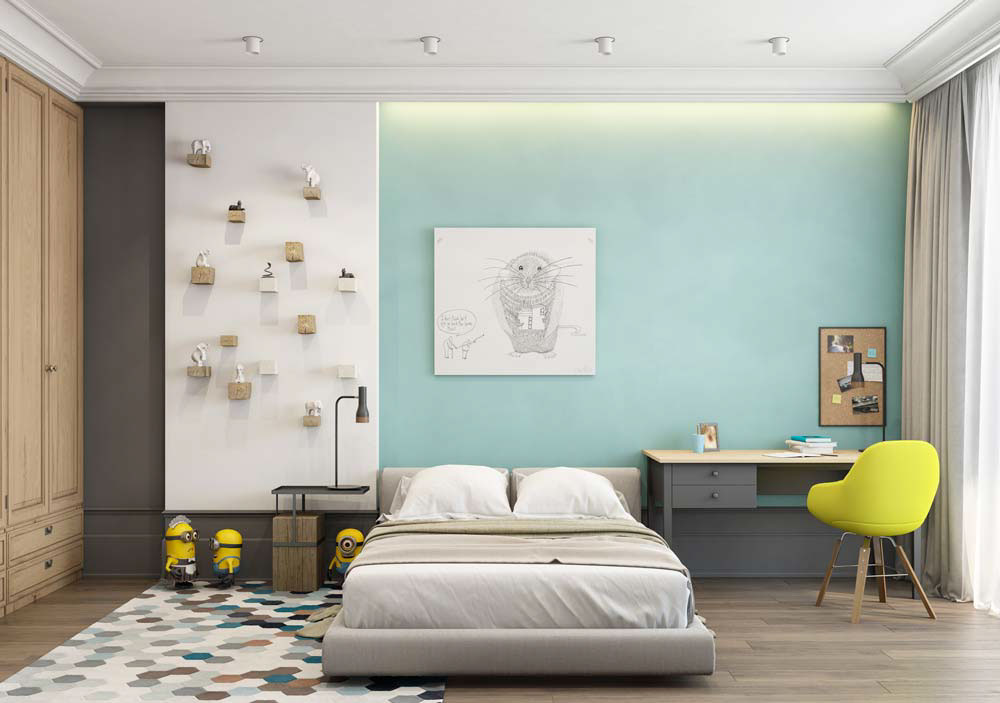 A Pair Of Modern Homes With Distinctively Bright Color Themes