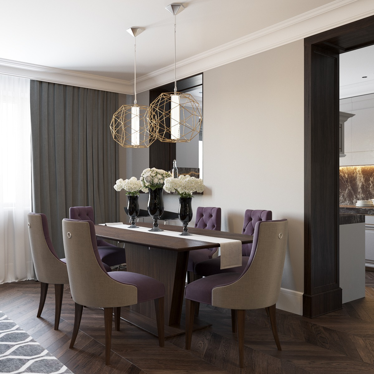 Home Deco: 2 Beautiful Home Interiors In Art Deco Style