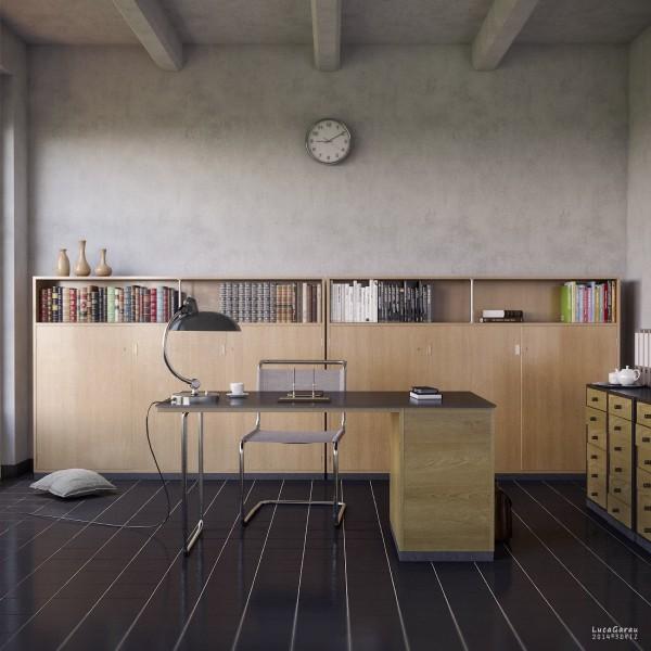 Visualizer luca garau this sleek office